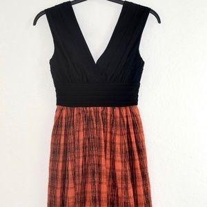 Tracy Reese Anthropologie Dress Sz 4 Black Plaid